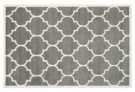 Tamako Rug, Dark Gray/Ivory