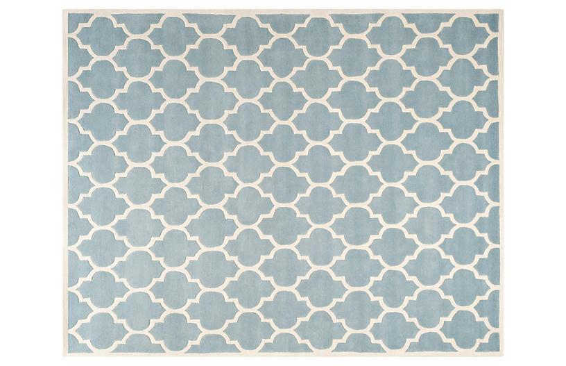 Taura Rug, Blue/Ivory