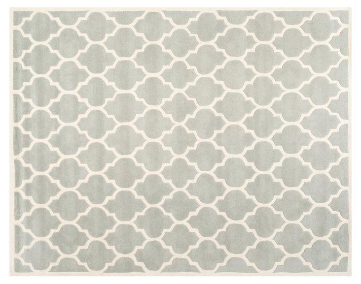 Taura Rug, Gray/Ivory