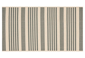 Collin Outdoor Rug, Gray/Bone