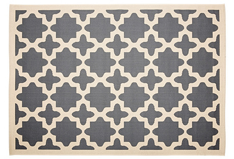 Cece Outdoor Rug, Anthracite