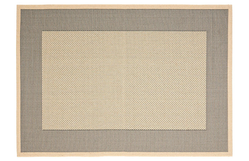 Sahara Outdoor Rug, Gray/Cream
