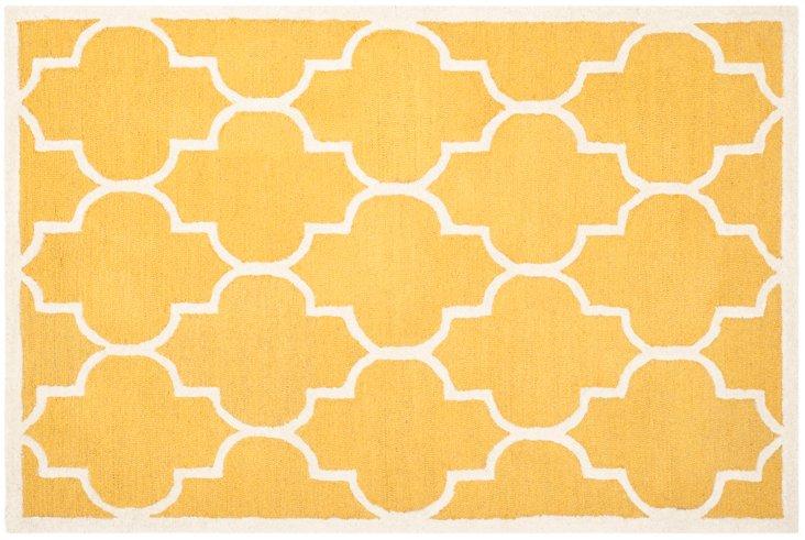 Sawyer Rug, Gold/Ivory