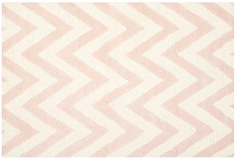 Shoshanna Rug, Pink/Ivory
