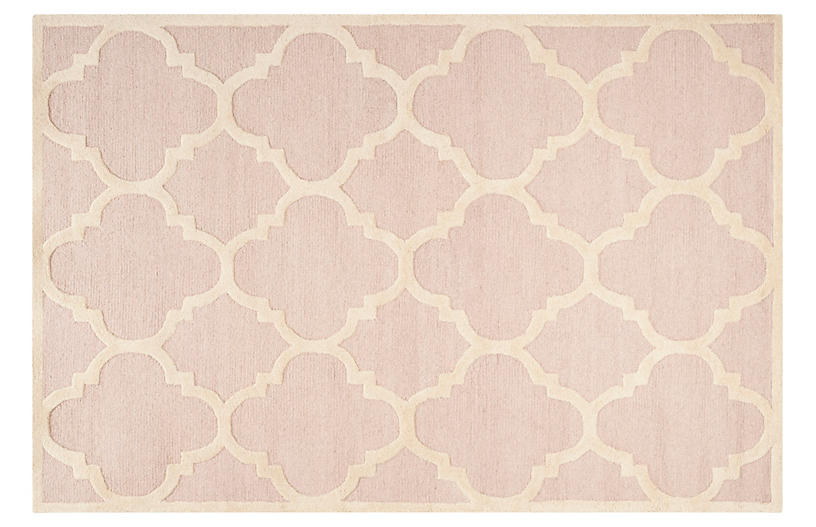 Carly Rug, Light Pink