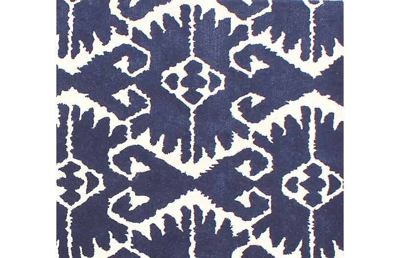 Orly Rug Royal Blue Ivory Wool Rugs By Material