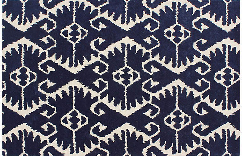 Orly Rug, Royal Blue/Ivory