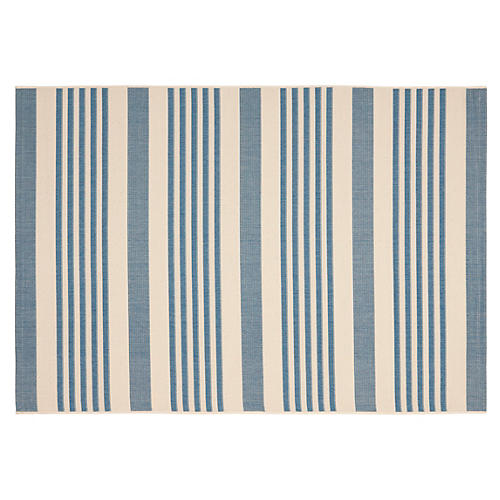 Keelan Outdoor Rug, Blue/Beige