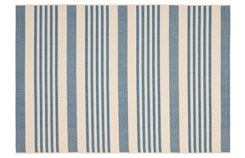 Keelan Outdoor Rug, Blue/Beige