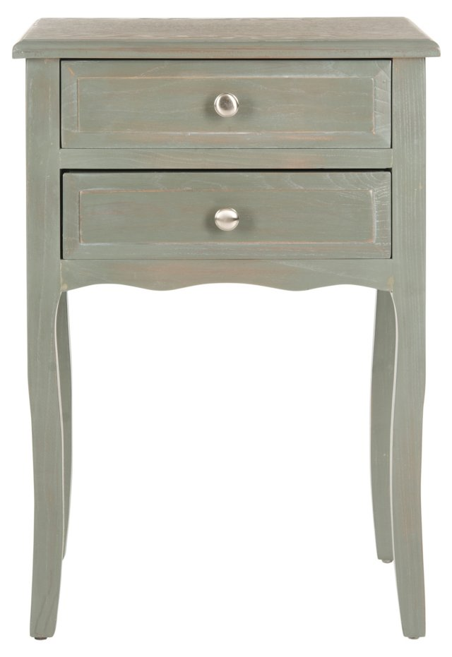 Laila Nightstand, Green/Gray