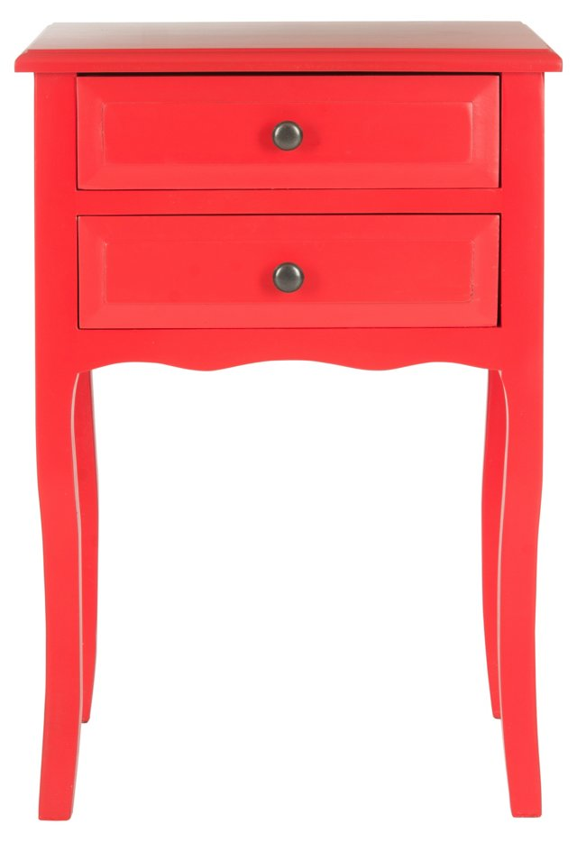 Laila Nightstand, Red