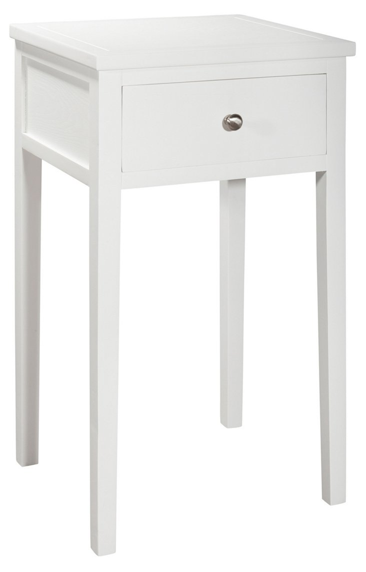 Nell End Table, White