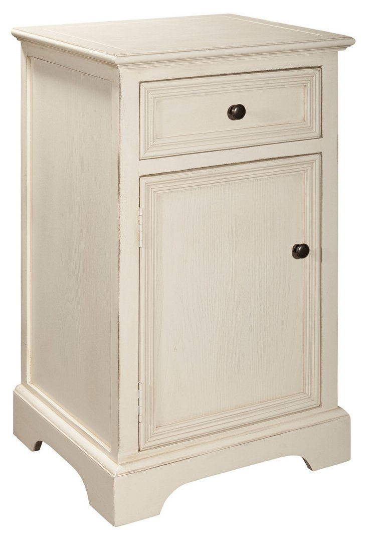 Janie Nightstand, Cream