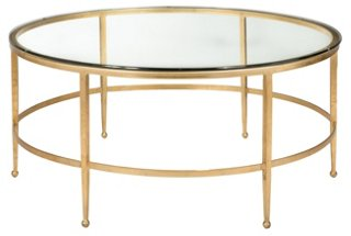 Evelyn Coffee Table, Gold   Coffee Tables   Living Room   Furniture   One  Kings Lane