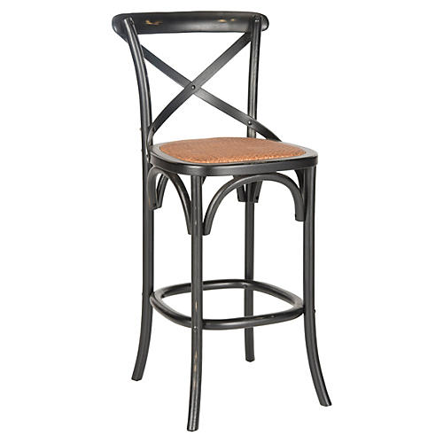 Graham Bar/Counter Stool, Black