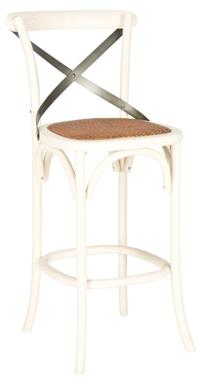 Frannie Barstool, White/Black