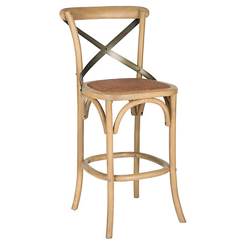 Frannie Counter Stool, Natural/Black
