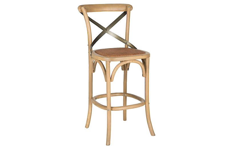 Frannie Counter Stool - Natural/Black
