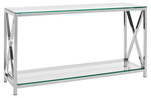 Hayworth Console, Silver