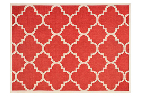 Steffen Outdoor Rug, Red