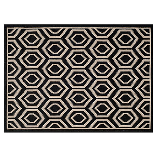 Lenny Outdoor Rug, Black