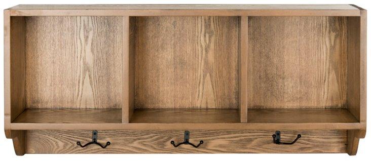 Oakdale Wall Shelf, Natural Brown