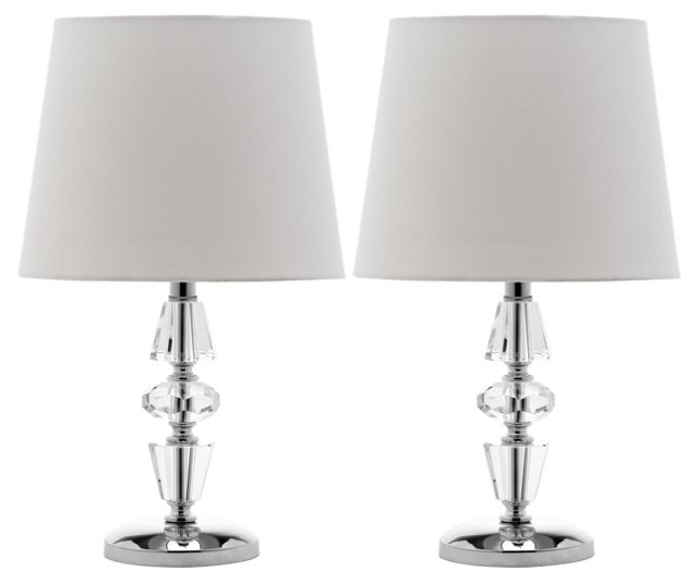 Crescendo Accent Lamp Set, Crystal