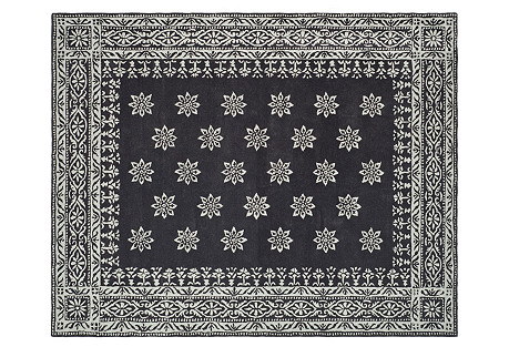Martha Stewart Wool Rug, Black