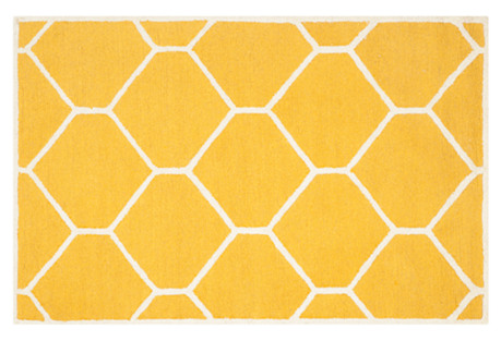 Carly Rug, Gold/Ivory