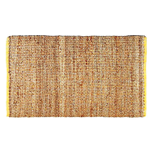 Calhoun Jute-Blend Rug, Natural/Yellow