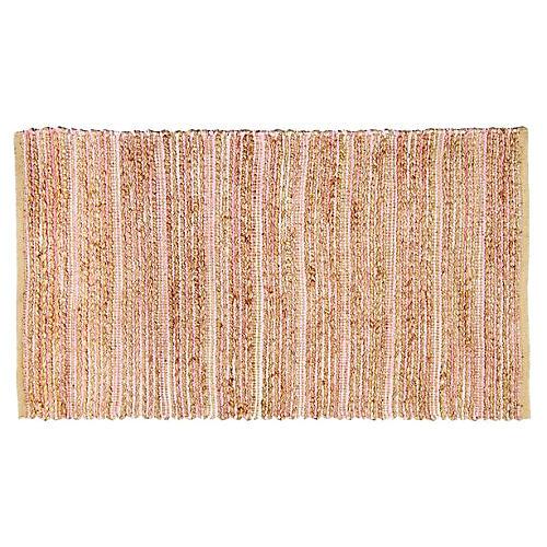 Duval Jute Rug, Light Pink