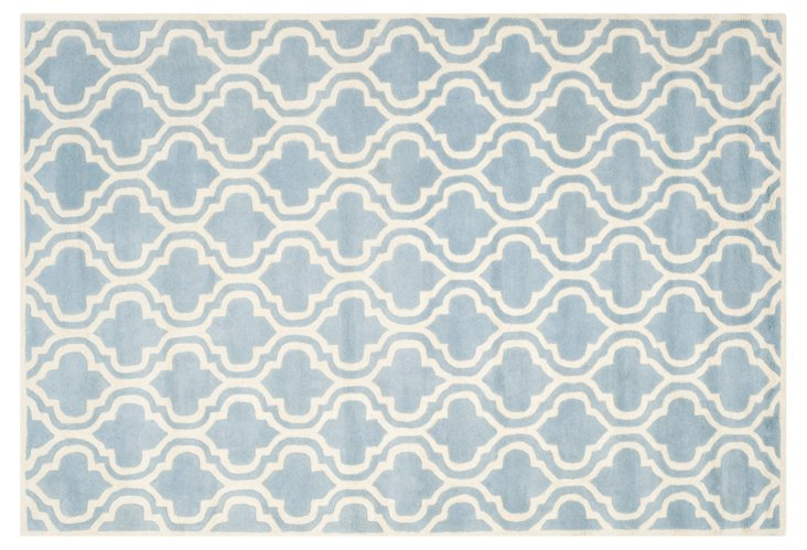 Jean Rug, Blue/Ivory