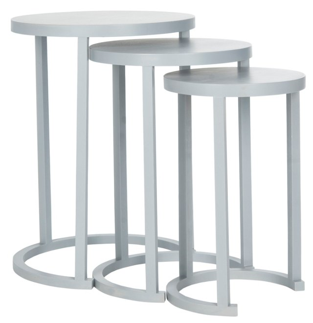 Moon Gray Sawyer Tables, Set of 3