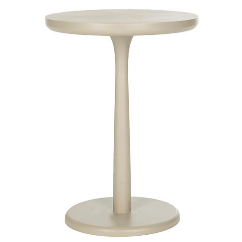 Anja Round Side Table, Taupe