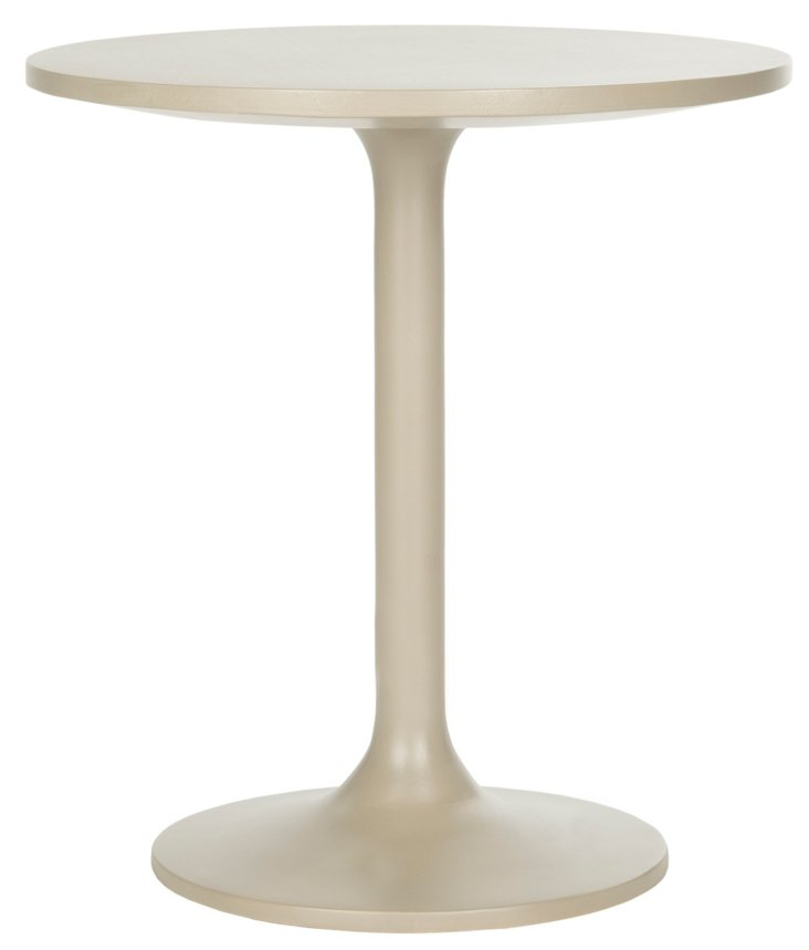 Constance Round Side Table, Taupe
