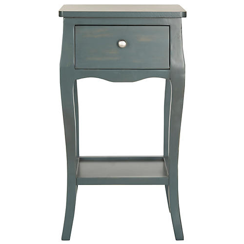 Tucker Nightstand, Dark Teal