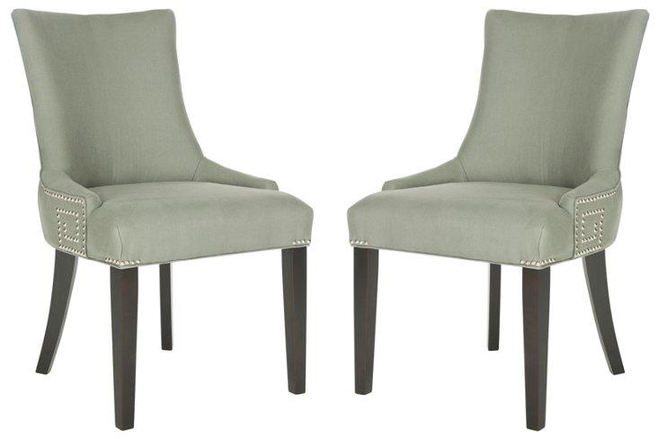 Granite Adara Side Chairs, Pair