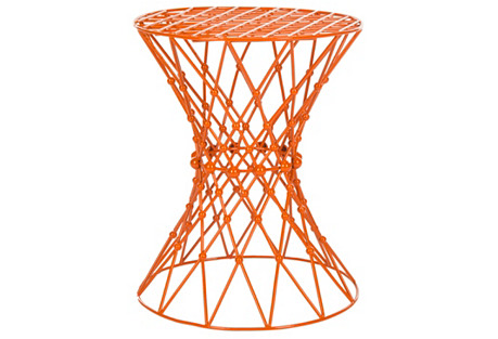 Addison Wire Stool, Orange