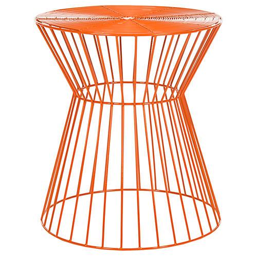 Alida Wire Stool, Orange