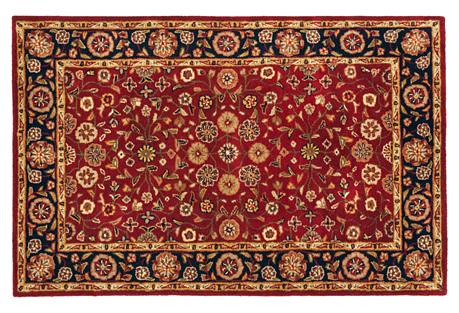 Holmes Wool Rug, Red/Navy