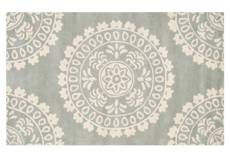 Lucci Rug, Gray/Ivory