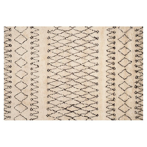 Cara Rug, Ivory/Dark Brown