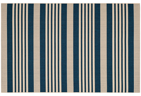 Jeffers Outdoor Rug, Navy