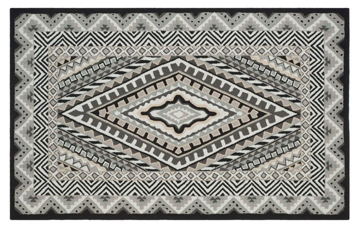 Hazel Outdoor Rug, Ivory/Gray