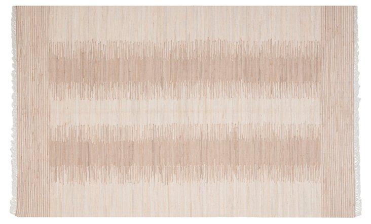 Uma Flat-Weave Rug, Beige
