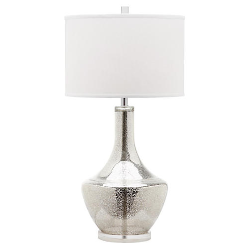 Alexie Buffet Lamp, Mercury Glass