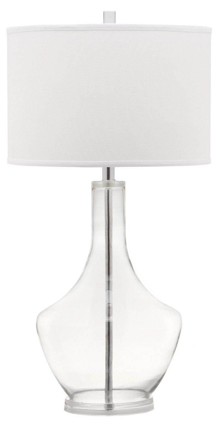 Alexie Buffet Lamp, Clear Glass