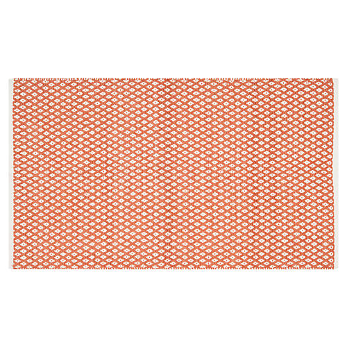Penny Rug, Orange/White
