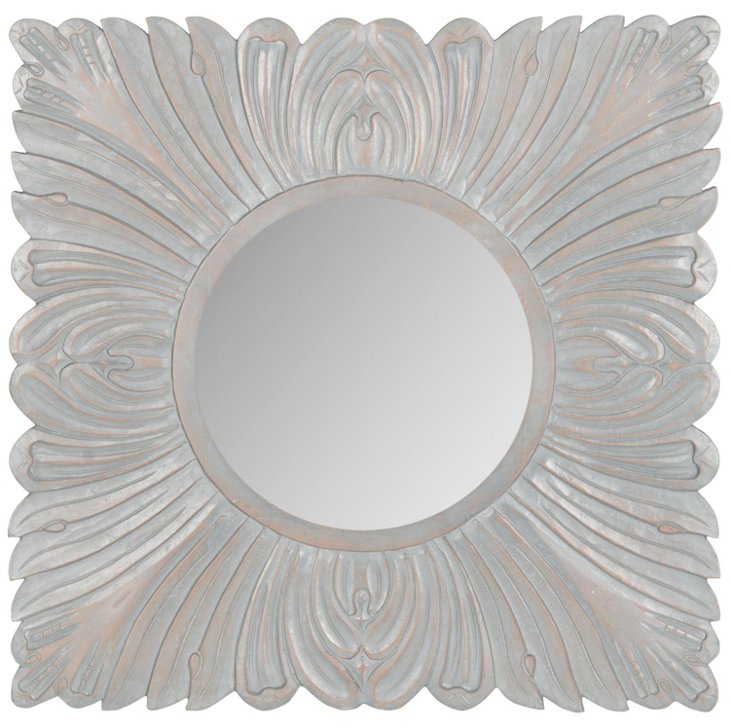 Acanthus Wall Mirror, Gray