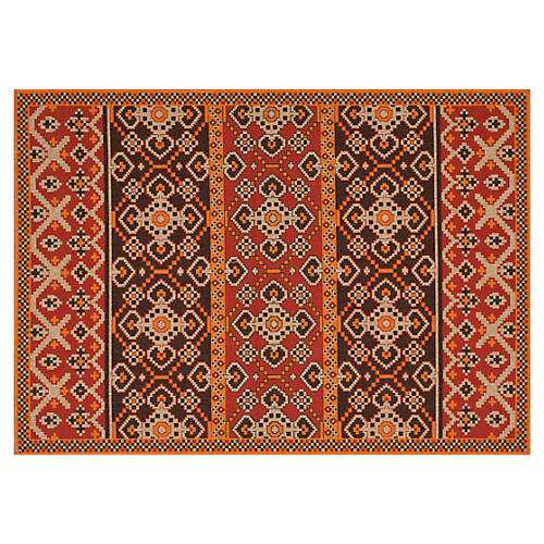 Mayna Outdoor Rug, Red/Multi